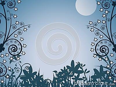 Evening, illustration, backgro