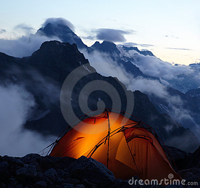 Free Evening In Mountains Stock Image - 15408211