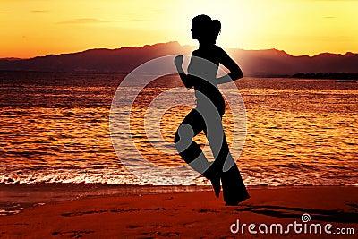 Evening jog along the beach.
