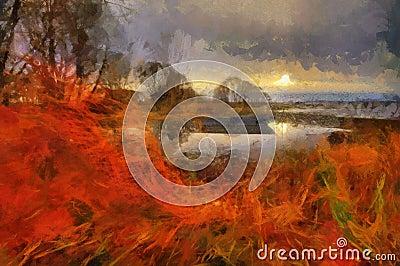 Evening on Lake Pleshcheyevo