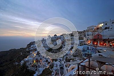 Evening light in Santorini