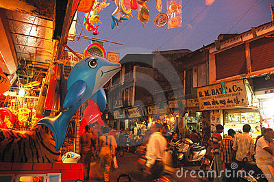 Evening Market Editorial Image
