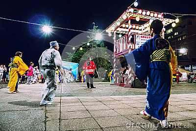 Evening Matsuri Scene Lake Toya Hokkaido Editorial Image