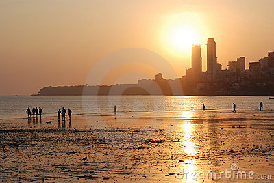 Evening Mumbai, Chowpatty beach