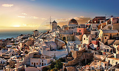 Evening in Oia Santorini
