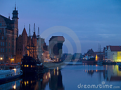 Evening at old Gdansk