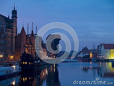 Evening at old Gdansk