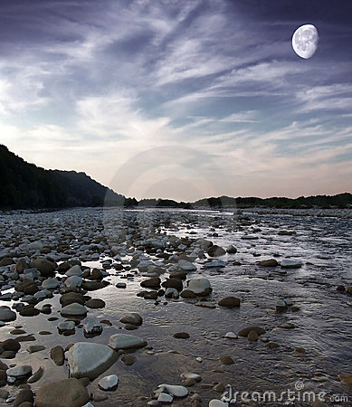 Free Evening River Stock Image - 6435951