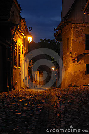 Free Evening Scene In Transylvania, Romania Royalty Free Stock Image - 15843076