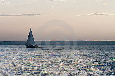 Evening on the sea