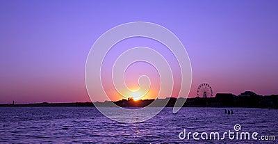 Evening sea beach