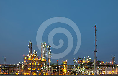 Evening sene of Chemical plant