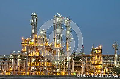 Evening sene of Chemical plant