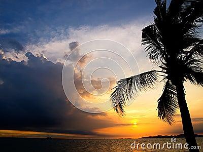 Evening sky on Pataya beach