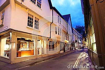 Evening street in York