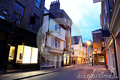 Evening street in York