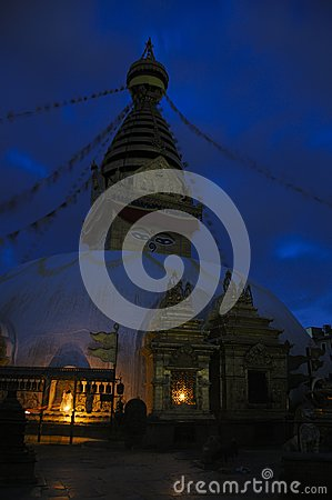 Evening at the Stupa