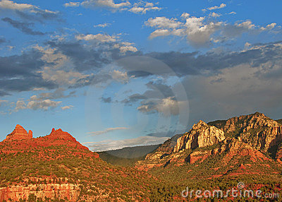 Evening sunset capture over sedona, az, usa