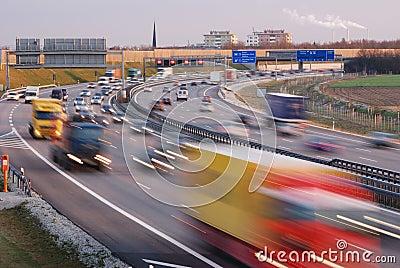 Evening traffic in munich