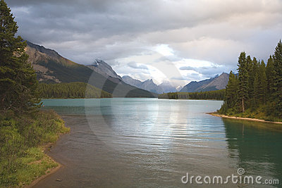 Evening Tranquility at Maligne Lake