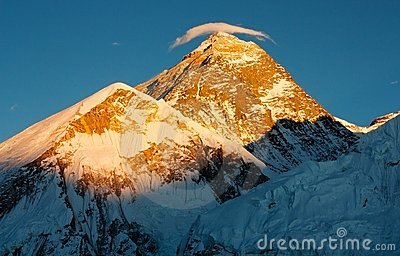 Evening view of Everest