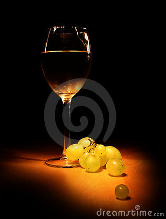 Free Evening Wine Still Life Stock Image - 1265271