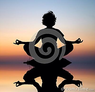 Free Evening Yoga Meditation Stock Image - 3253451