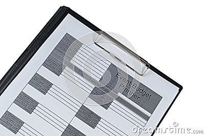 Event Budget planner form