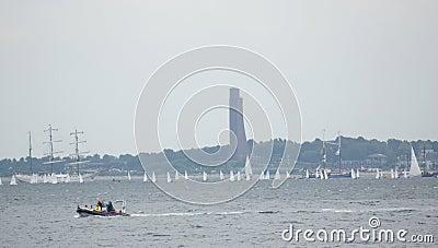 Event-Kiel Week - Boat Race - Kiel - Germany - Baltic Sea Editorial Stock Image