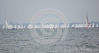 Event-Kiel Week - Regatta - Kiel - Germany - Baltic Sea Editorial Photography