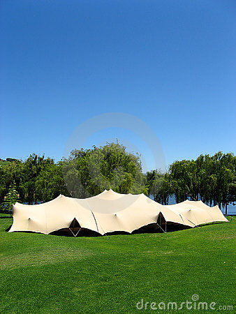 Event in a tent.