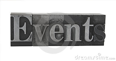 events  in old metal type