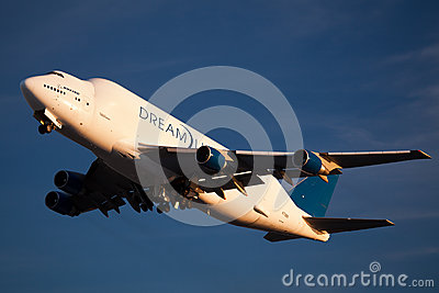 Boeing Dreamlifter in Everett Washington Editorial Stock Photo