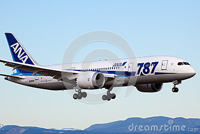 Boeing 787 - All Nippon Airways Editorial Photo