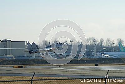 EVERETT, WASHINGTON, USA - JAN 26th, 2017: A brand new Ryanair Boeing 737-800 Next Gen MSN 44766, Registration EI-FTP Editorial Image