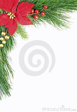 Free Evergreen Christmas Border Stock Photos - 3807653