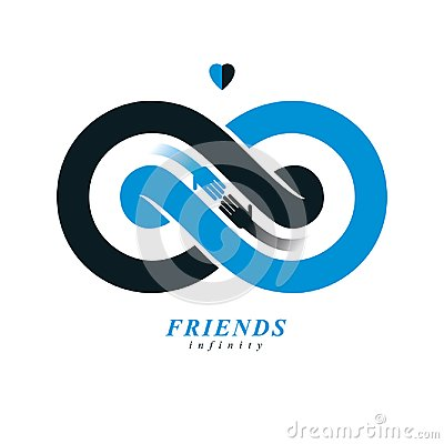 Free Everlasting Friendship, Forever Friends, Creative Vector Symbol Royalty Free Stock Image - 120057376