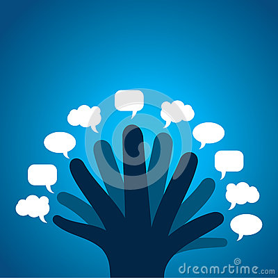 Every finger show different message bubble