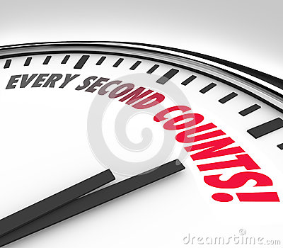 Every Second Counts Clock Countdown Deadline