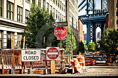 Everyday life on Eight Avenue in New York