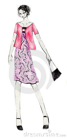 Everyday Outfit Fashion Illustration