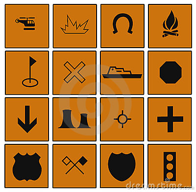 Everyday Symbols Bordered by Squares