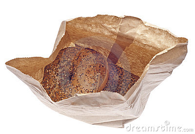 Everything Bagels in a Paper Bag
