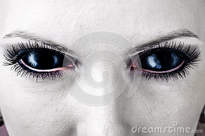 Evil Black Female Zombie Eyes Royalty Free Stock Photos