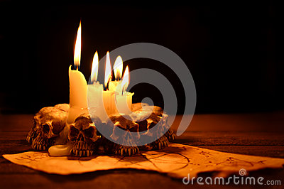 Evil candle light
