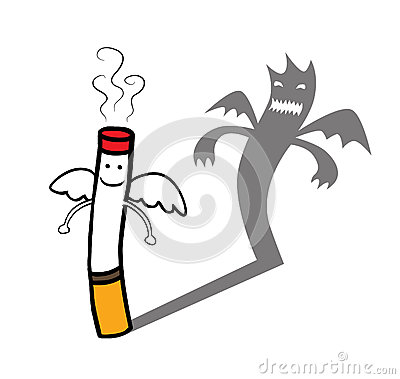 Evil cigarette character