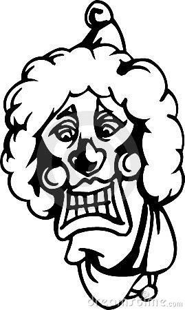 Evil clown - Halloween Set - vector illustration