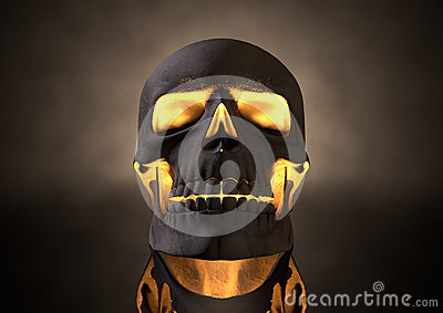 Evil Glowing Skull Front