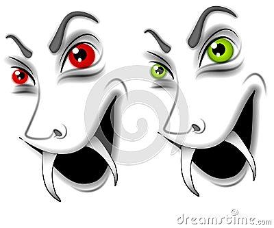 Evil Halloween Vampire Faces