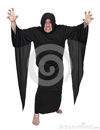 Evil Mystic Sorcerer Warlock Wizard Isolated